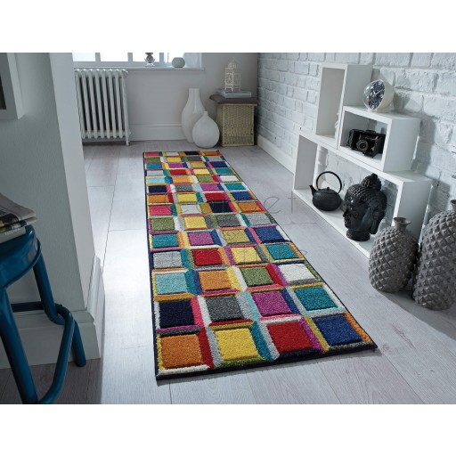 Spectrum Waltz Multi Rug - Hall Runner 60 x 230 cm