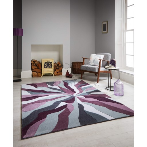 "Infinite Splinter Purple Rug - Size 80 x 150 cm (2'8"" x 5')"