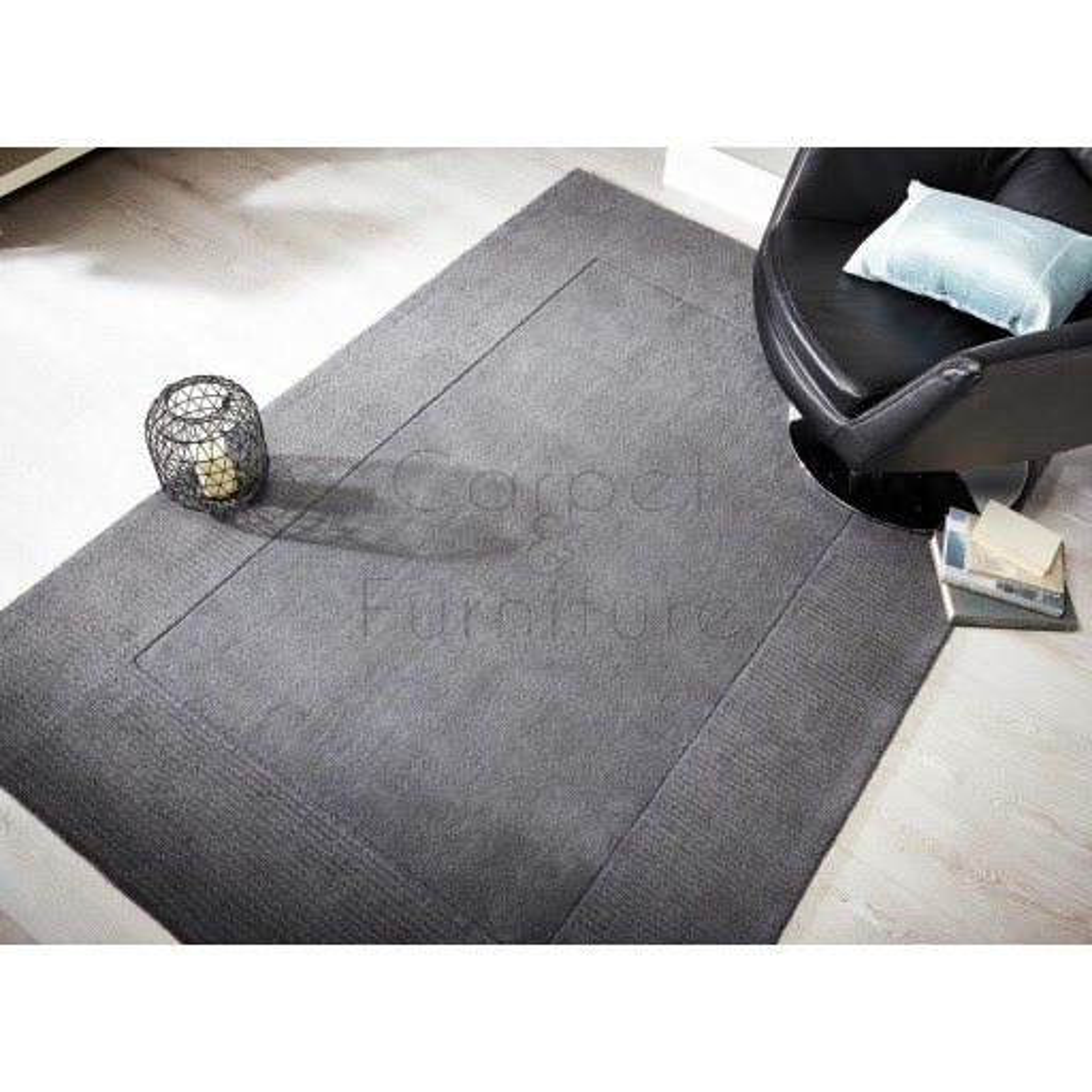 """Tuscany Sienna Rug - Light Grey - Size 120 x 170 cm (4' x 5'7"""")"""