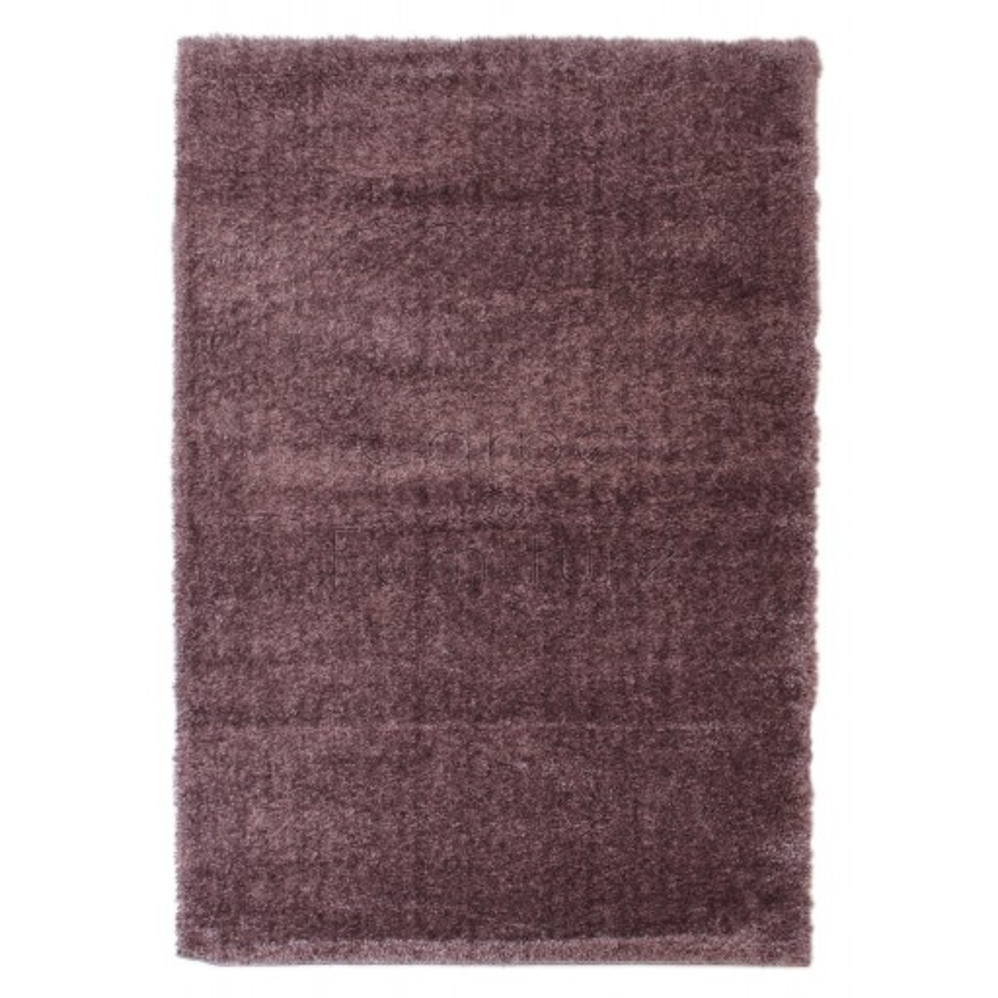 "Velvet Shaggy Rug - Mauve - Size 80 x 150 cm (2'8"" x 5')"