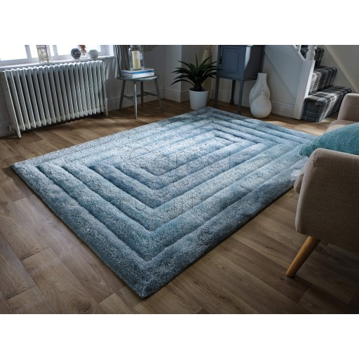 "Verge Ridge Duck Egg Rug - Size 80 x 150 cm (2'8"" x 5')"