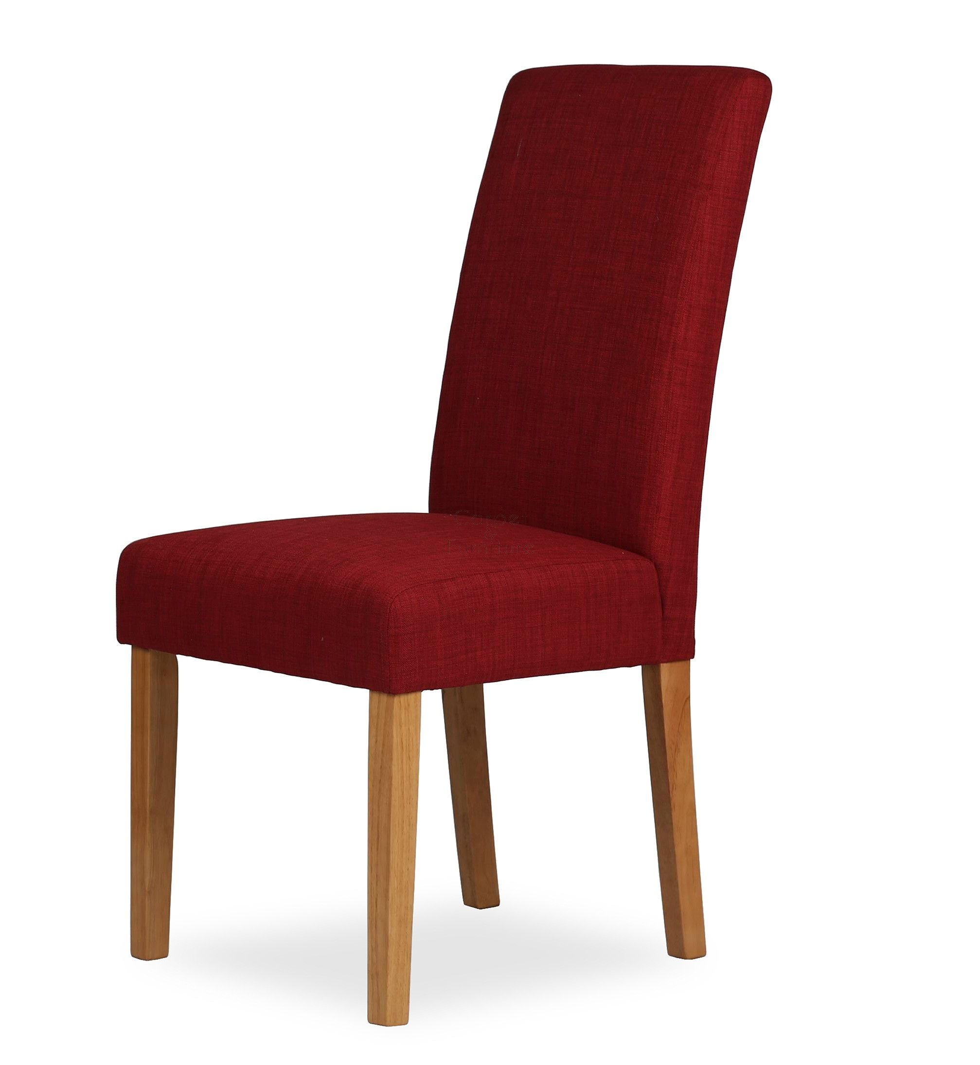 Upholstered Dining Chair Claret Red