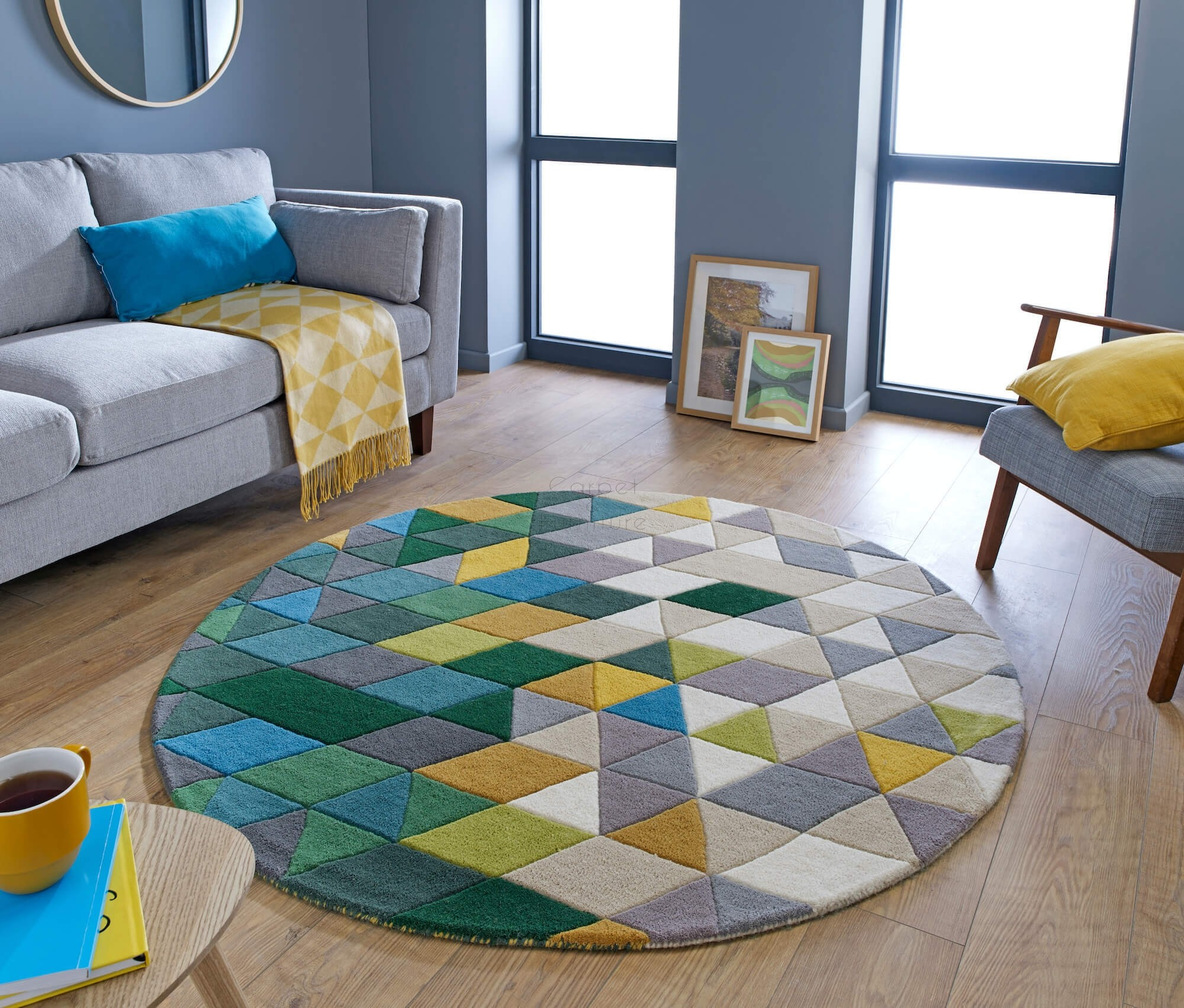 Illusion Prism Green / Multi Rug