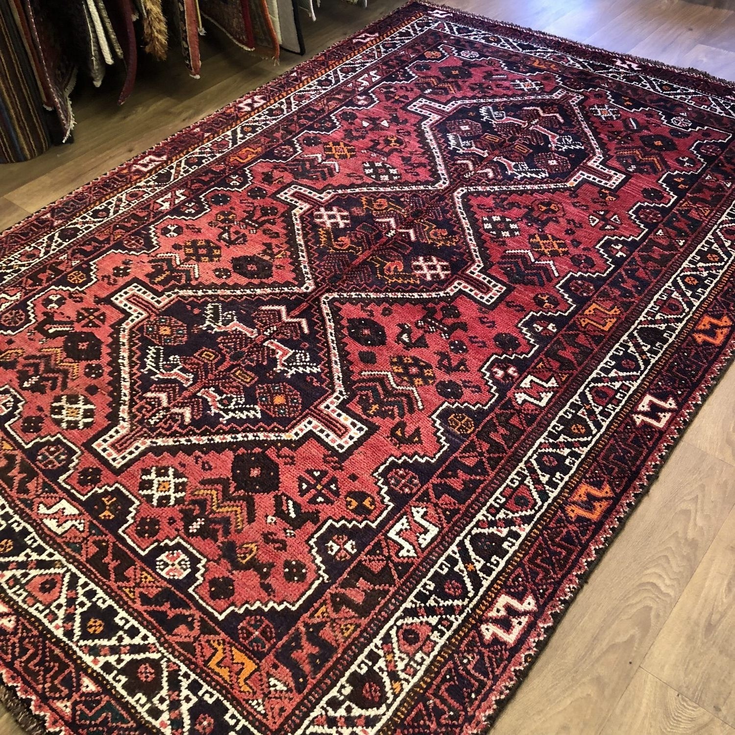 oriental dye tribal today overstock rug x shipping kazak home product herat garden knotted free afghan hand wool vegetable