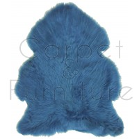British Sheepskin Rug  - Cornflower Blue