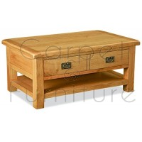 Winchester Large Coffee Table with Drawer & Shelf