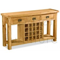 Winchester Open Sideboard with Wine Rack
