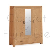 Creswell Triple Wardrobe with Mirror