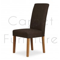 Upholstered Dining Chair - Chocolate