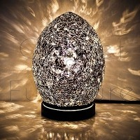 BLACK MINI MOSAIC EGG LAMP