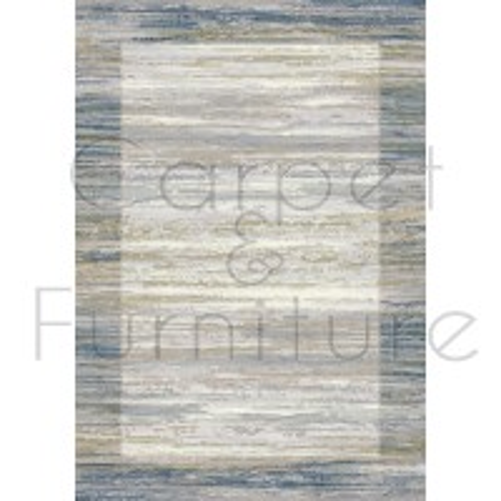 "Galleria Rug - Border Blue 63138 6191 - Size 200 x 290 cm (6'7"" x 9'6"")"
