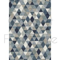 "Galleria Rug - Triangles 63263 5161 - Size 200 x 290 cm (6'7"" x 9'6"")"