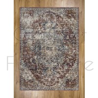 """Alhambra Traditional Rug - 6504b red/red - Size 80 x 150 cm (2'8"""" x 5')"""
