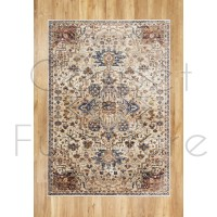 "Alhambra Traditional Rug - 6504c ivory/beige - Size 200 x 290 cm (6'7"" x 9'6"")"