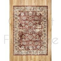 """Alhambra Traditional Rug - 6549a red/red - Size 200 x 290 cm (6'7"""" x 9'6"""")"""