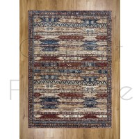 "Alhambra Traditional Rug - 6576a ivory/red - Size 80 x 150 cm (2'8"" x 5')"