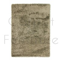 "Athena Shaggy Rug - Taupe - Size 80 x 150 cm (2'8"" x 5')"