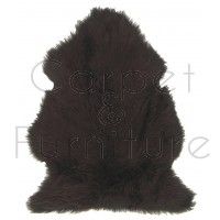 British Sheepskin Rug  - Dark Chocolate-Sexto Skin
