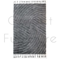 """Eclectic Auckland Grey Rug - Size 160 x 230 cm (5'3"""" x 7'7"""")"""