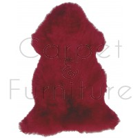 British Sheepskin Rug  - Red-Double Skin
