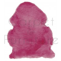 British Sheepskin Rug  - Fuchsia-Treble Skin
