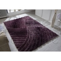 "Verge Furrow Purple Rug - Size 120 x 170 cm (4' x 5'7"")"