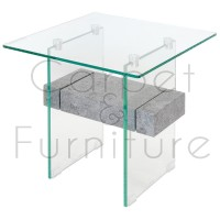 Glass Lamp Table