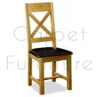 Winchester Cross Back Dining Chair with PU seat