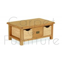 Winchester Large Coffee Table with Baskets