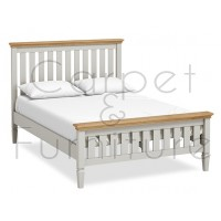 York Slatted Bed - Double (Mattress not included)