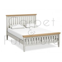 York Slatted Bed - King (Mattress not included)