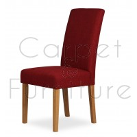 Upholstered Dining Chair - Claret Red