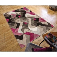 "Aurora Rug - Grey Purple - Size 120 x 170 cm (4' x 5'7"")"