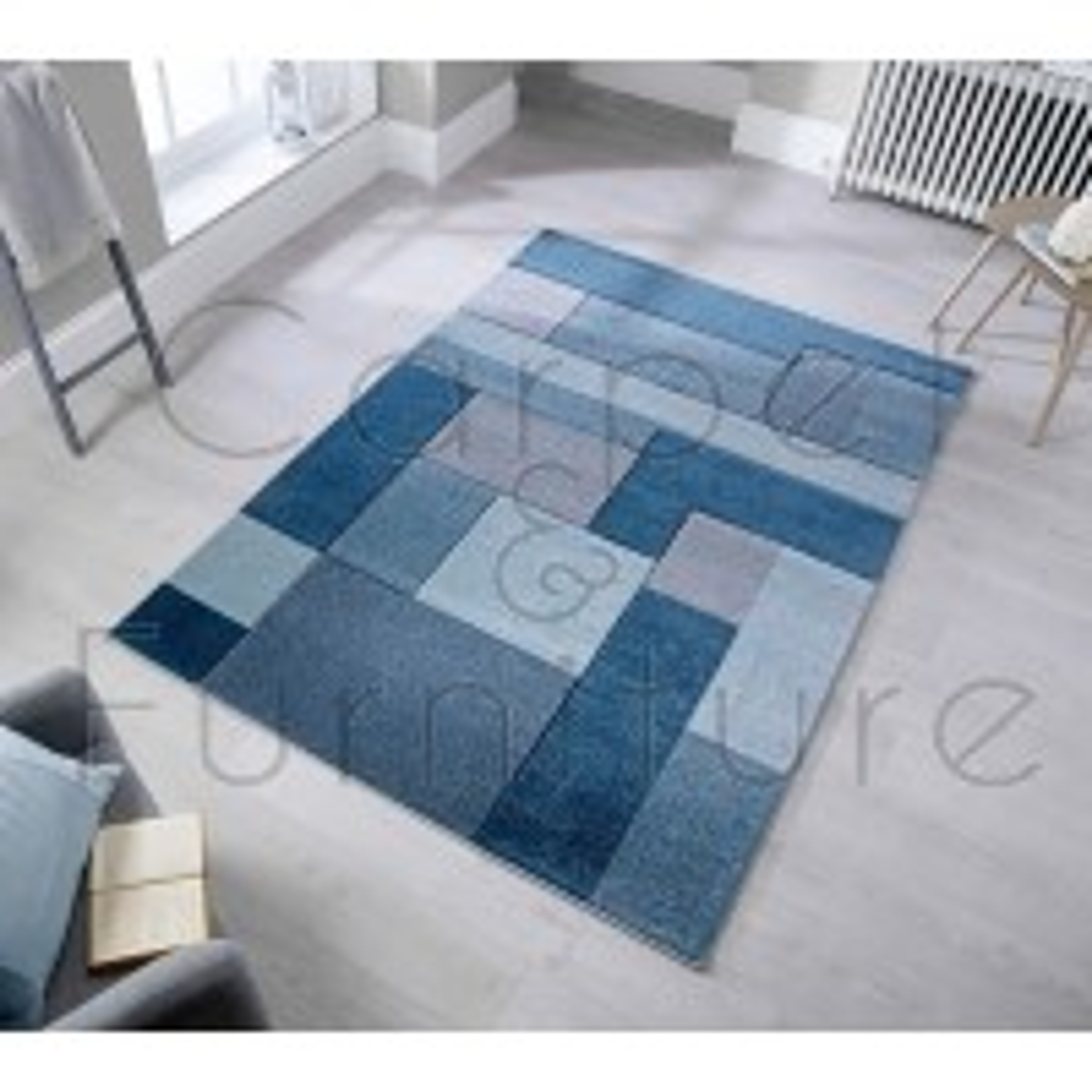 """Cosmos Rug - Denim Blue - Size 80 x 150 cm (2'8"""" x 5')"""