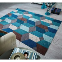 "Infinite Scope Teal Rug - Size 80 x 150 cm (2'8"" x 5')"