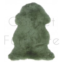 British Sheepskin Rug  - Jade Green-Quad Skin
