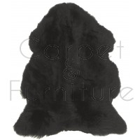 British Sheepskin Rug  - Black-Quad Skin