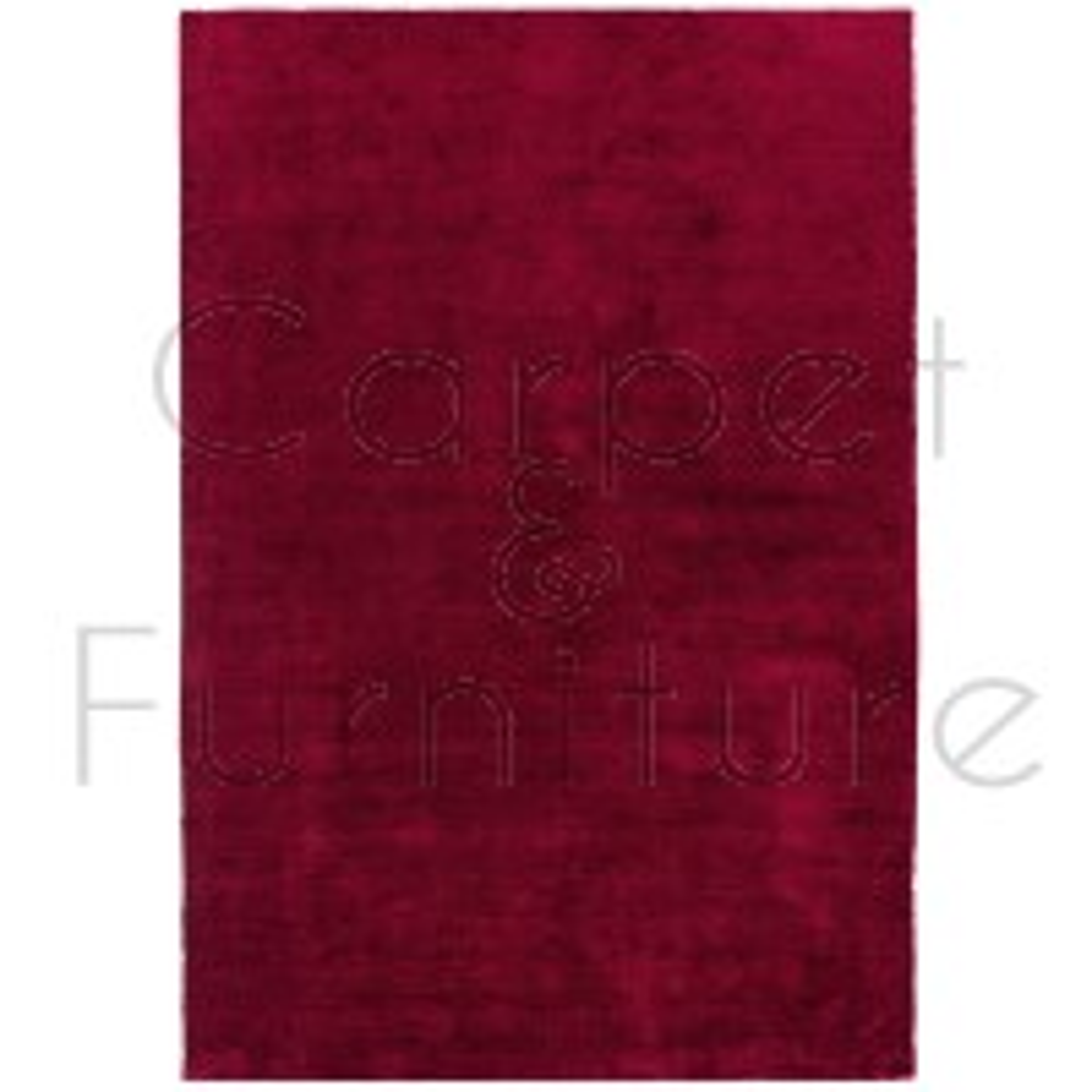 "Milo Soft Plain Rug - Berry - Size 160 x 230 cm (5'3"" x 7'7"")"