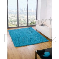 "Nordic Cariboo Shaggy Rug - Turquoise - Size 160 x 230 cm (5'3"" x 7'7"")"