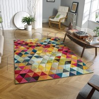 "Piccadilly Rug -  526 X Multicoloured - Size 120 x 170 cm (4' x 5'7"")"