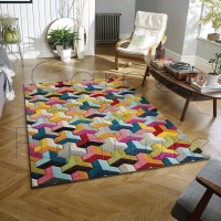 """Piccadilly Rug -  531 X Multicoloured - Size 120 x 170 cm (4' x 5'7"""")"""