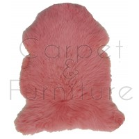 British Sheepskin Rug  - Pink-Treble Skin
