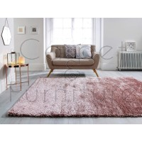 "Serenity Super-Soft Shaggy - Pink - Size 160 x 230 cm (5'3"" x 7'7"")"