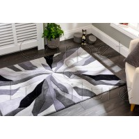 "Infinite Splinter Grey Rug - Size 120 x 170 cm (4' x 5'7"")"