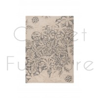 """Textures Gold Loxley Grey Rug - Size 120 x 170 cm (4' x 5'7"""")"""