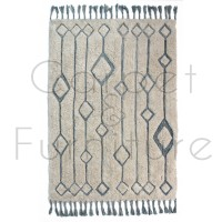 """Solitaire Sion Natural/Duck Egg Rug - Size 120 x 170 cm (4' x 5'7"""")"""