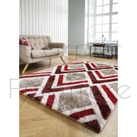 "Velvet Bijoux Rug - Red Brown - Size 120 x 170 cm (4' x 5'7"")"