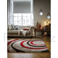 "Velvet Droplet Rug - Red Brown - Size 160 x 230 cm (5'3"" x 7'7"")"