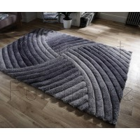 "Verge Furrow Grey Rug - Size 80 x 150 cm (2'8"" x 5')"