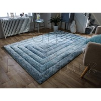 "Verge Ridge Duck Egg Rug - Size 120 x 170 cm (4' x 5'7"")"